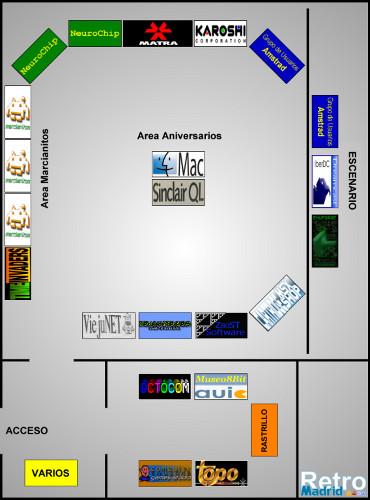 Plano de RetroMadrid 2009